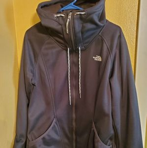 North Face Zip Up Hooded Sweatshirt